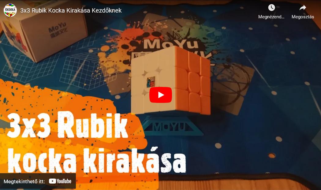 Rubik Kocka Kirakása Kezdőknek